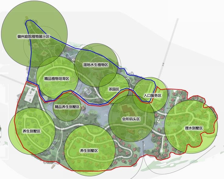 项目类型:风景区与保护地规划 项目规模:139公顷 项目地点:安徽省黄山市 项目时间:2010年 植物园设计理念——漂浮的花园 黄山桃花岛植物园的设计依托当今最先进的理念与对未来设计的掌握,通过湿地营造的性质打造具有观赏性、科普性、生态性的现代城市植物园。在这里你不仅可以观赏到各种植物的形态、特征,你还能了解到其生长的奥秘,在生态设计上采用科学的湿地来体现,使人们认识到湿地的重要性。我们把园区内景点分为一个个组团,再用水将其缠绕,形成一种漂浮的景观,而园内的精品苗木培育区与水生植物