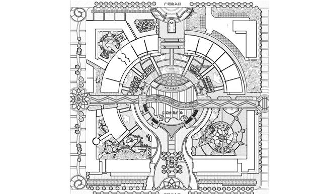 苏州城市结构图手绘