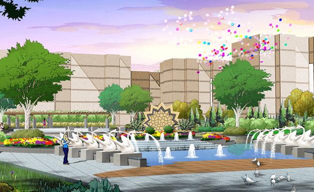 德州东健花园住宅区景观设计-住宅与别墅区景观-九地