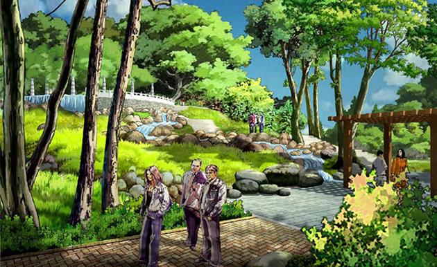 房地产景观设计,德州东健花园 休闲度假景观设计,旅游风景区景观设计