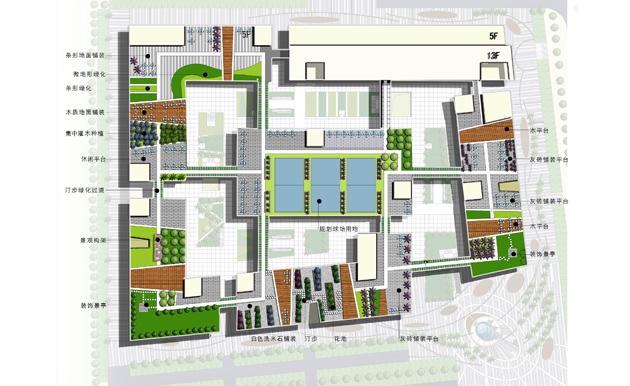 广弘美居中心广场景观设计
