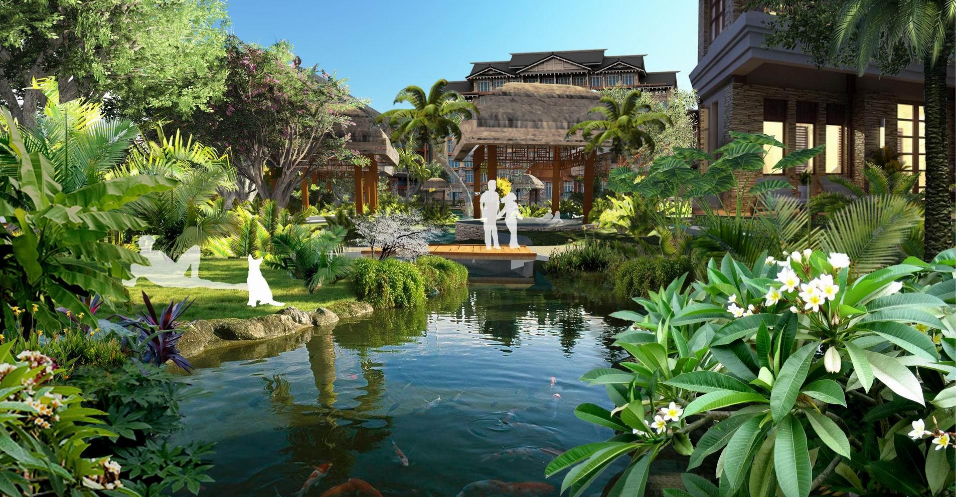海南儋州海阳城住宅区景观设计-住宅与别墅区景观-九
