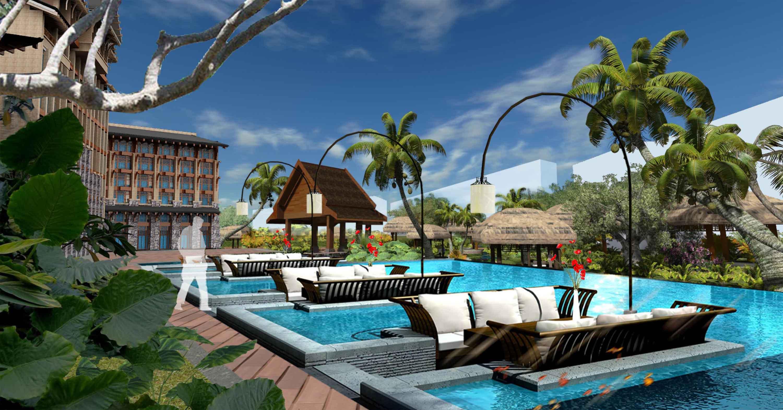 海南儋州海阳城住宅区景观设计-住宅与别墅区景观