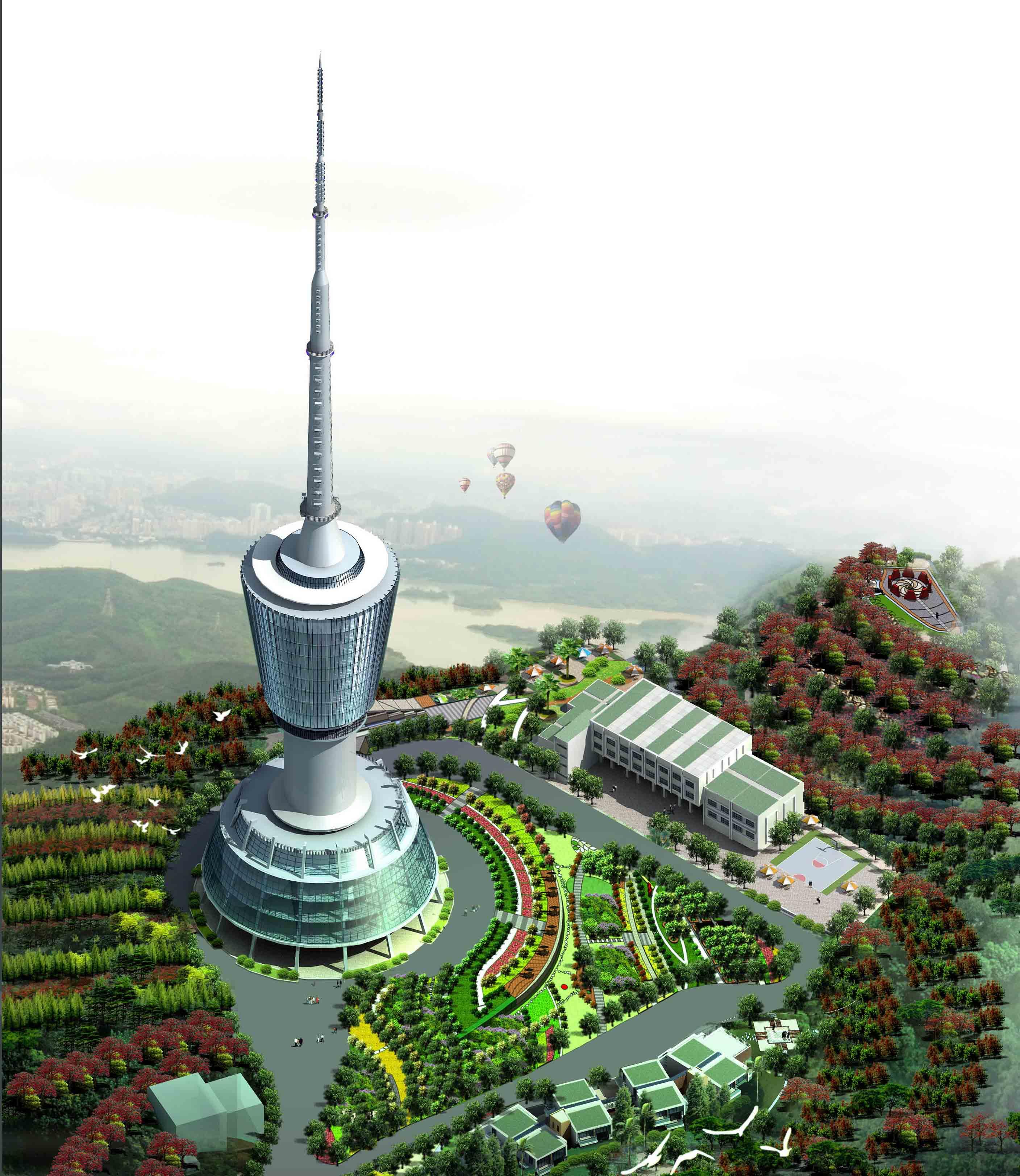 深圳梧桐山电视塔风景区景观设计