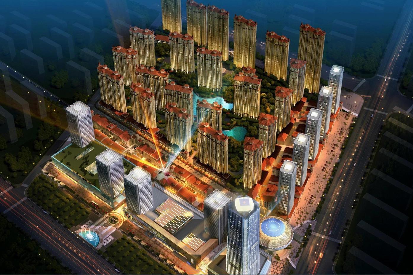 紅星國際商業廣場及住宅小區景觀設計