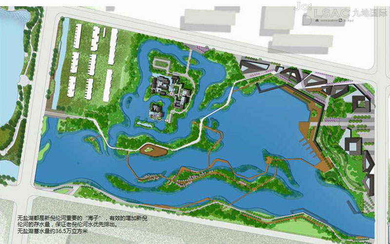 滨水公园设计手绘平面图