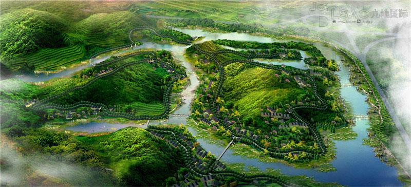 徽州园林植物园庭院景观,滨水环境,旅游城镇规划,风景区与保护地规划